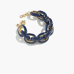 Contrast enamel link bracelet