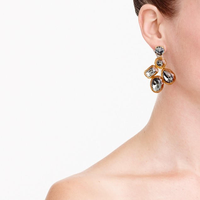 Jewel box cluster earrings