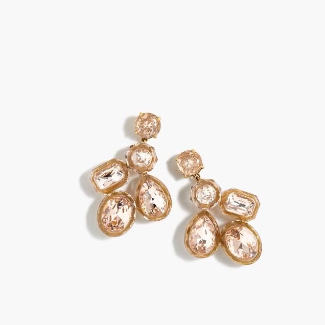 Jewel box cluster earrings
