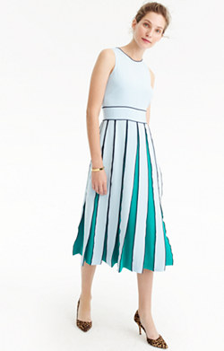 Collection pleated silk dress