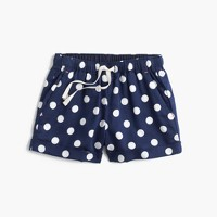 Girls' pull-on short in polka dot
