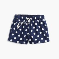 Girls' pull-on short in polka dot