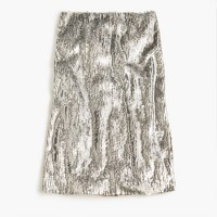 Silver sequin skirt