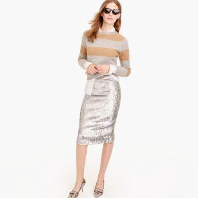 Silver Sequin Skirt : Women's Skirts | J.Crew