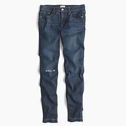 Toothpick jean in Point Lake wash