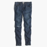 "Petite 8"" toothpick jean in Point Lake wash"