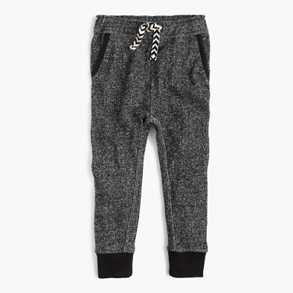 Girls' marled cotton sweatpant