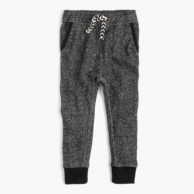 Girls' marled cotton sweatpant
