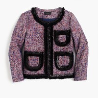 Tweed lady jacket with sparkly trim