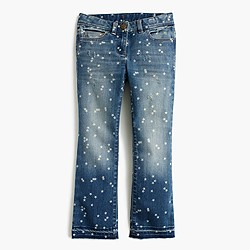 Girls' star-print stretch toothpick jean