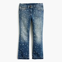 Girls' star print stretch toothpick jean