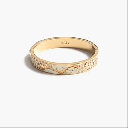 Lace inlay clamp bracelet