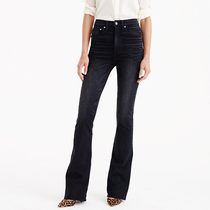 Point Sur trumpet flare jean in washed black