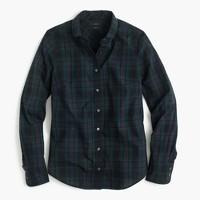 Club-collar perfect shirt in Black Watch plaid