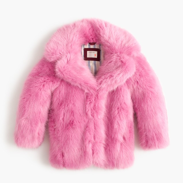 Girls' faux-fur coat
