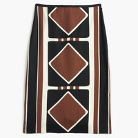 Collection silk-wool skirt in Ratti® diamond print