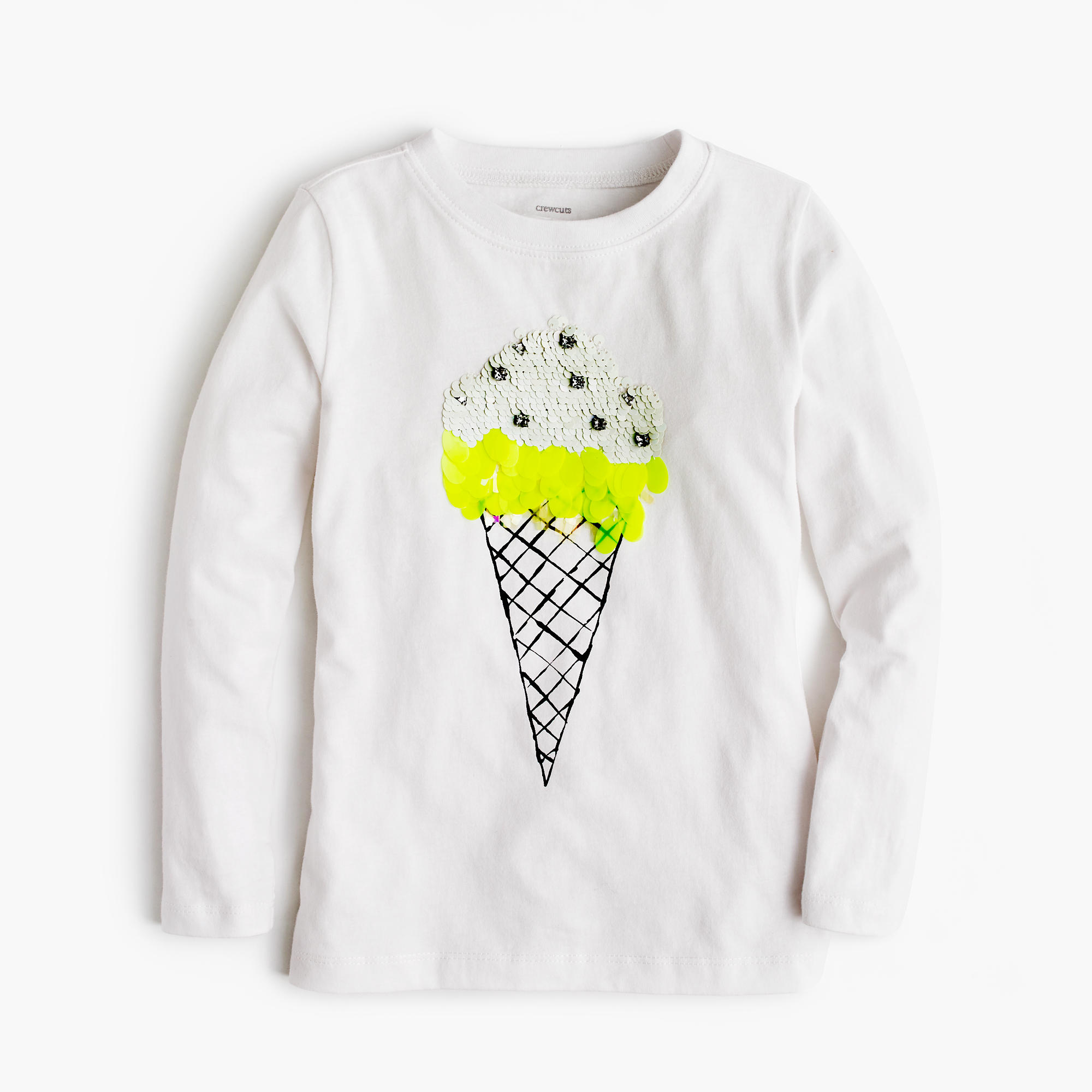 Girls 39 sequin ice cream t shirt girls 39 tees j crew for Girls sequin t shirt