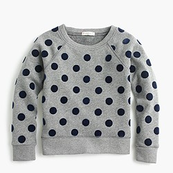 Girls' polka-dot sweatshirt