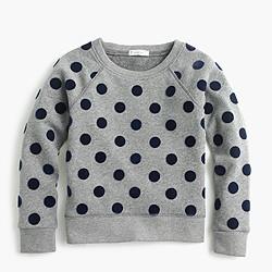 Girls' polka-dot sweatshirt