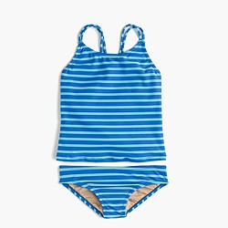 Girls' tankini set in sailor stripe