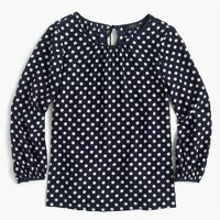Silk top in polka dot