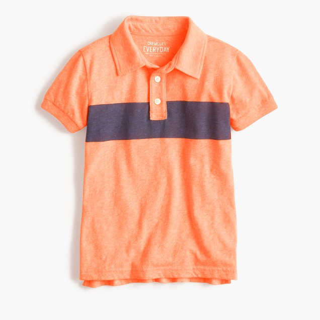 Boys' striped polo shirt in the softest jersey