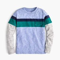Boys' long-sleeve striped jersey T-shirt
