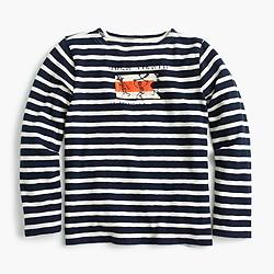 Boys' long-sleeved pirate striped T-shirt