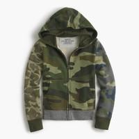 Boys' mash-up camo hoodie