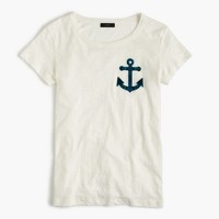 Black Watch plaid anchor T-shirt