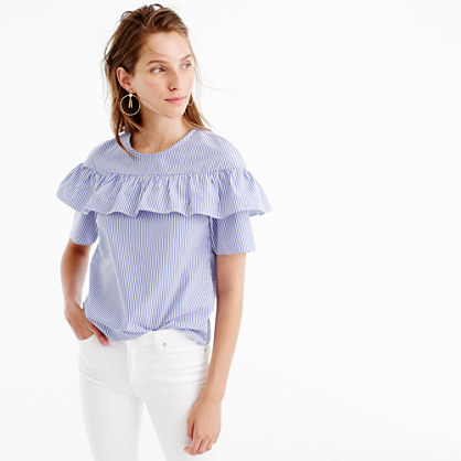 Edie top in shirting stripe