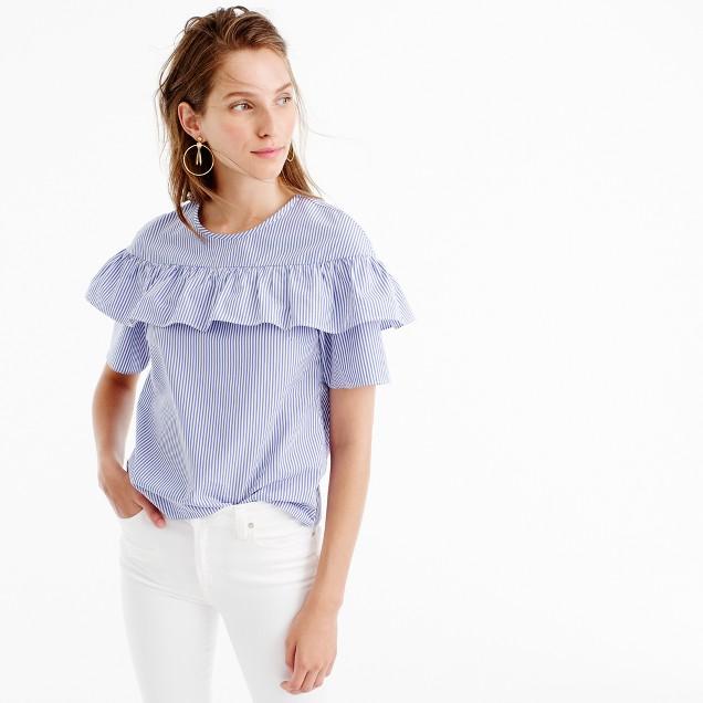 Edie top in shirting stripe