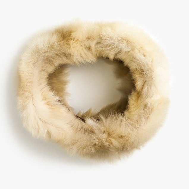 Infinity shearling scarf