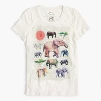 J.Crew for David Sheldrick Wildlife Trust elephant T-shirt