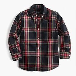 Pre-order Kids' long-sleeve shirt in Stewart plaid