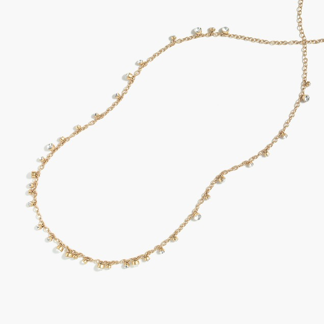 Petite crystal drop necklace