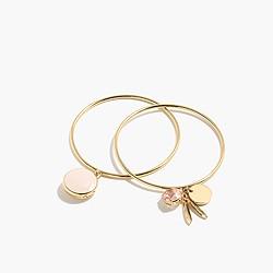 Locket charm bracelets (set of two)
