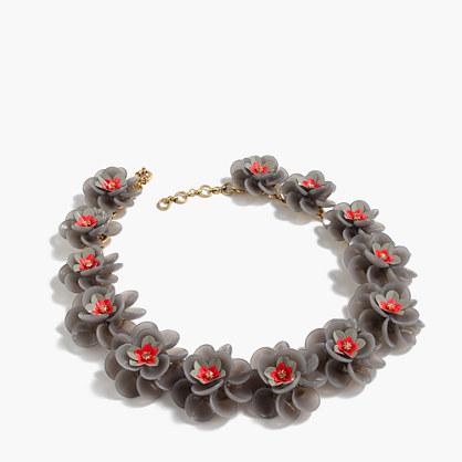 Lucite petal necklace