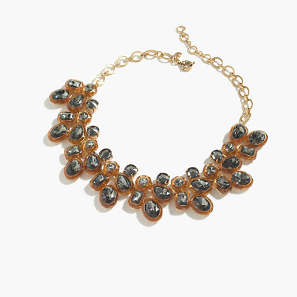 Jewel box cluster necklace