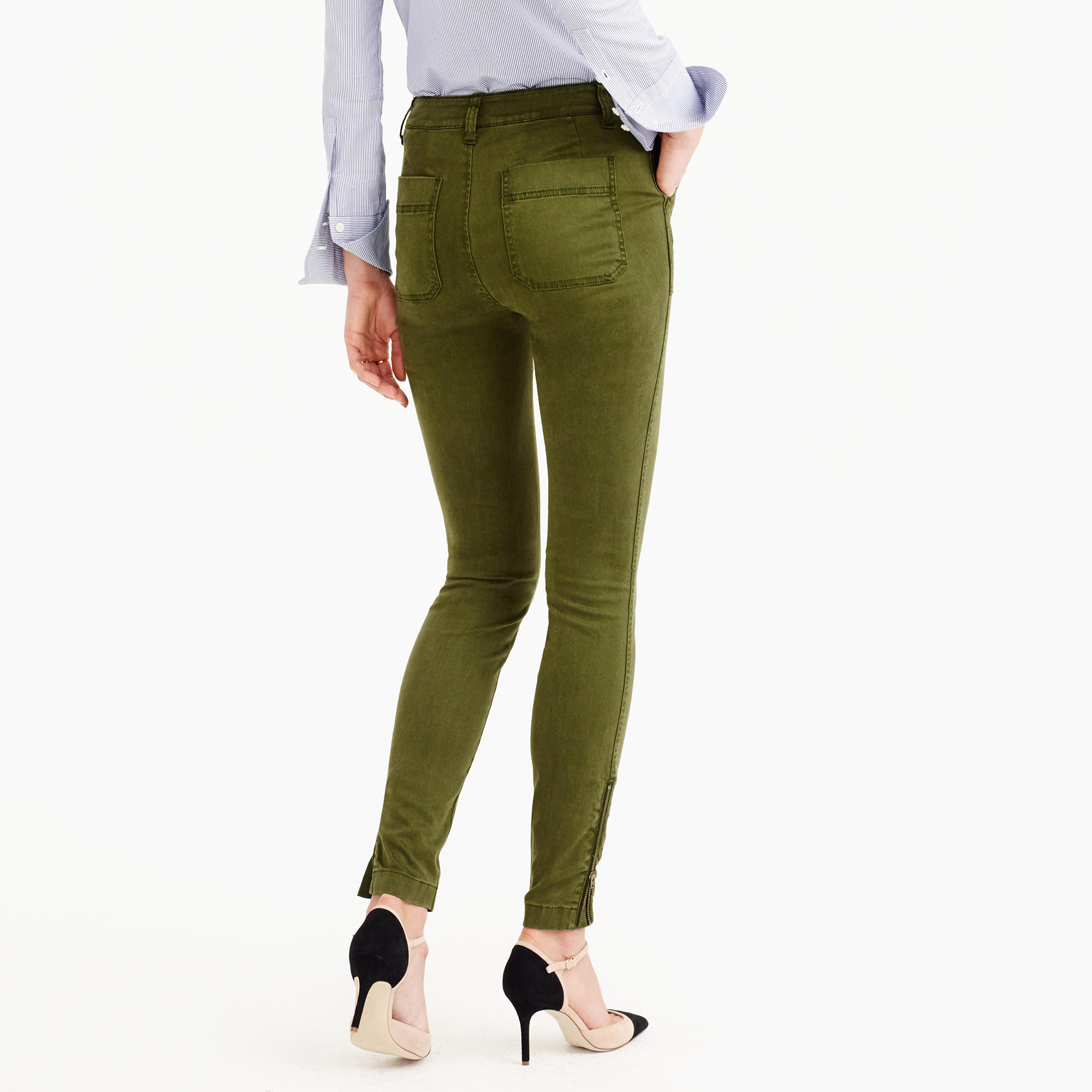 Skinny Stretch Cargo Pant With Zippers : Women's Pants | J.Crew