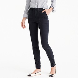 Skinny stretch cargo pant with zippers