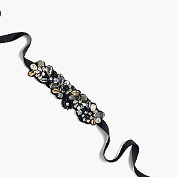 Midnight satin crystal bracelet