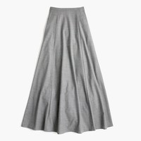 Collection maxi skirt in wool flannel
