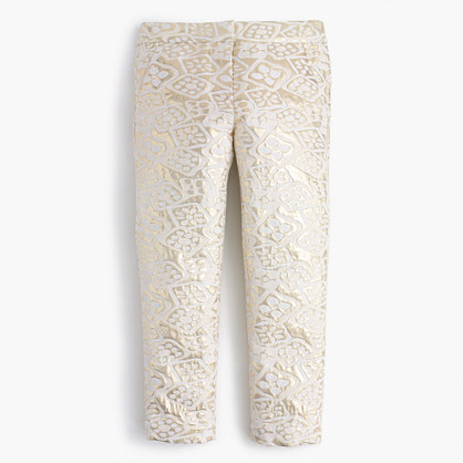 Girls' metallic jacquard pant