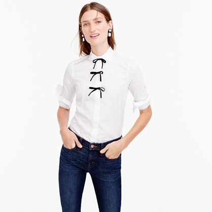 Pre-order Collection Thomas Mason® for J.Crew perfect shirt with velvet bows