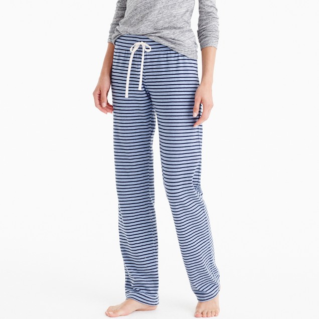 Petite dreamy cotton pant in stripe