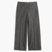 Wide-leg wool pant in houndstooth