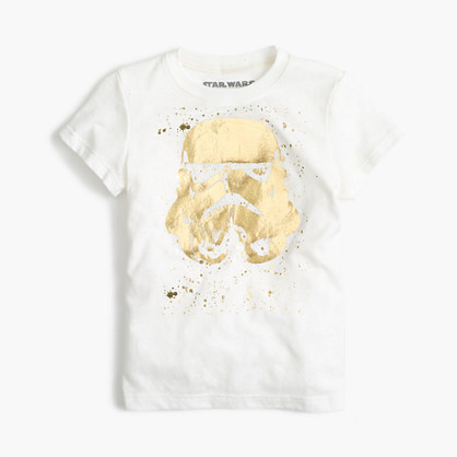 Kids' Star Wars™ for crewcuts metallic Storm Trooper helmet T-shirt