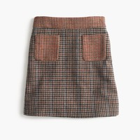 Mini skirt in mixed houndstooth