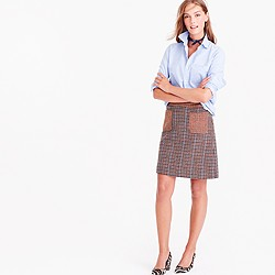 Pre-order Mini skirt in mixed houndstooth